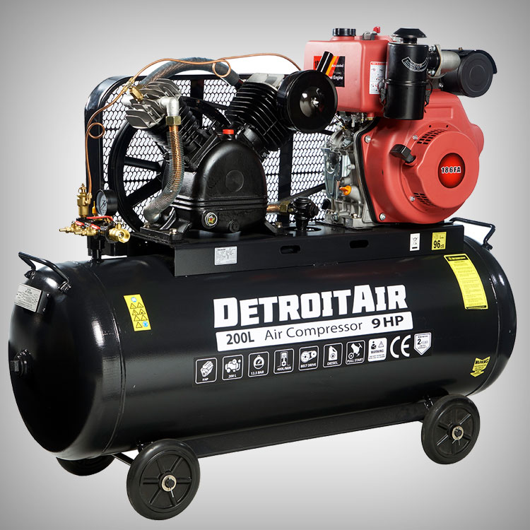 Portable Engine Driven Piston Compressors From DETROIT AIR